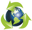 recycling world (stylish arrows)