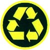 recycling yellow-black