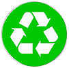 recykling whie-on-green badge