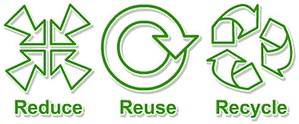 reduce reuse recycle (outline set)