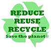 REDUCE REUDE RECYCLE Save the planet