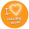 I LOVE reducing waste (badge)