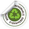 renew- sustain- recycl- ABLE (sticker)