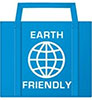 reusable bag 'EARTH FRIENDLY' (blue)