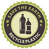 SAVE THE EARTH - RECYCLE PLASTIC (seal)