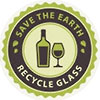 SAVE THE EARTH - RECYCLE GLASS (seal)