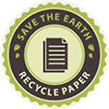 SAVE THE EARTH - RECYCLE PAPER (seal)