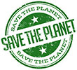 SAVE THE PLANET (3x, stamp style)