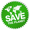SAVE THE PLANET (label-seal)