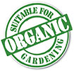 SUITABLE FOR ORGANIC GARDENING (stamp)