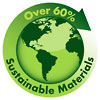 Over 60% Sustainable Materials