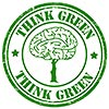 THINK GREEN (stock stamp)
