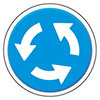 circular traffic (road sign)