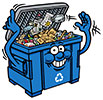 waste collection bluebox (fun, CA)