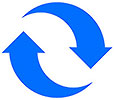waste reduction (2 blue arrows)