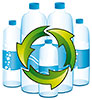 water bottles recycling (stock, EU)
