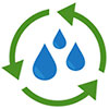 water circulation pictogram