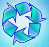 water recycling (blue arrows)