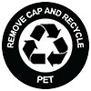 Woolworth's PET recycling - REMOVE CAP AND RECYCLE