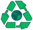 world follow recycling