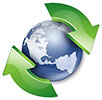 world recycle (2 green arrows circle)