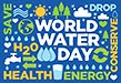 World Water Day (typeset plate)