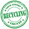 RECYCLING: YOUR EFFORT COUNTS (green stamp)