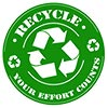 RECYCLE - YOUR EFFORT COUNTS (seal stamp)